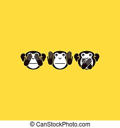 monkey. Vector background