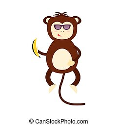Monkey vector illustration.