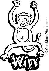 Monkey win