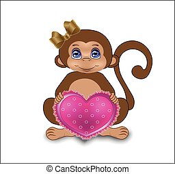 monkey with heart