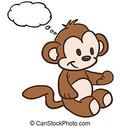 monkey with thought bubble