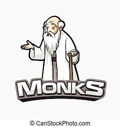 monks banner illustration design