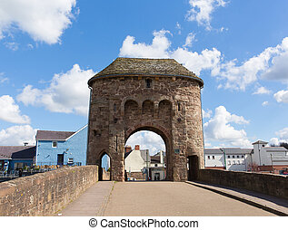 Monmouth Monnow Bridge Wales UK - Monnow Bridge Monmouth...