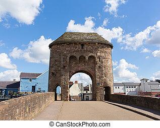 Monmouth Monnow Bridge Wales UK - Monnow Bridge Monmouth...