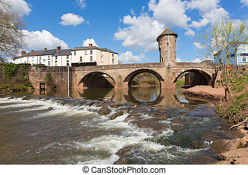 Monmouth Wales uk Wye valley town - Monnow Bridge Monmouth...