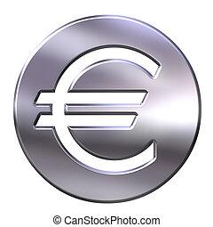 monnaie, 3d, argent, euro