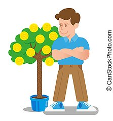 monnaie, arbre