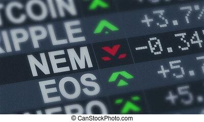 """monnaie, arrows"""", en mouvement, """"crypto, échange"""