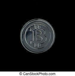 monnaie, bitcoin, argent, crypto