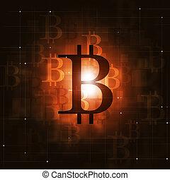monnaie, bitcoin, crypto