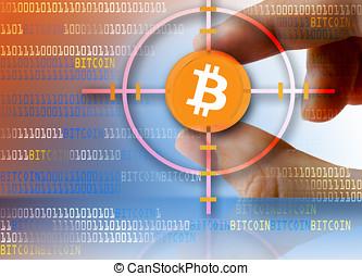 monnaie, bitcoin, numérique