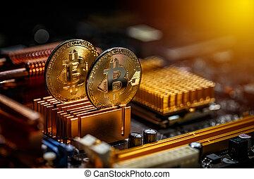 monnaie, bitcoin, or