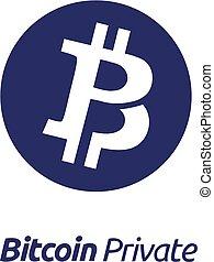 monnaie, bitcoin, privé