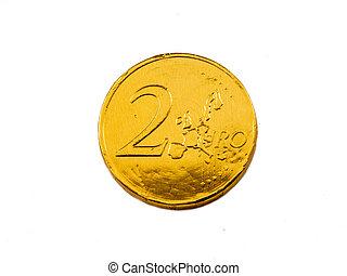 monnaie chocolat, euro