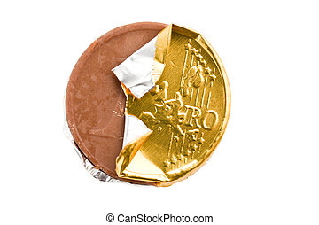 monnaie, chocolat