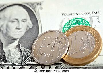 monnaie, concept, marché, échange