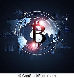 monnaie, crypto, bitcoin
