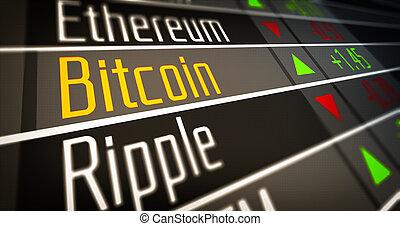 monnaie, crypto, marché
