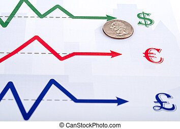 monnaie, diagrammes, échange