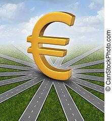monnaie, direction, euro