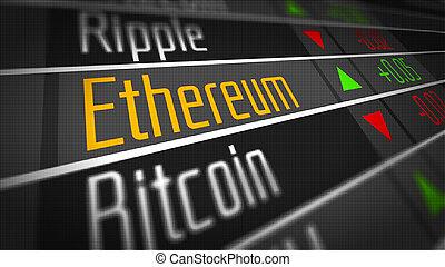 monnaie, ethereum, crypto, marché
