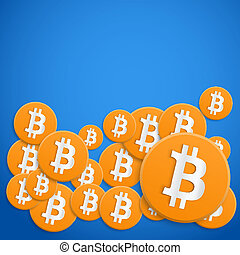monnaie, financier, bitcoin, fond
