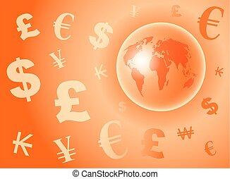 monnaie, globe