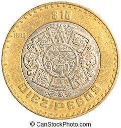 monnaie, mexicain, dix, peso