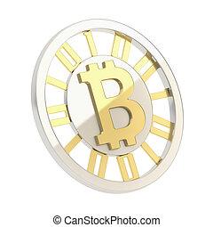 monnaie, monnaie, isolat, bitcoin, crypto