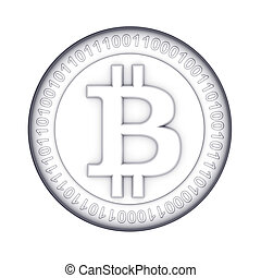 monnaie, numérique, bitcoin, doré