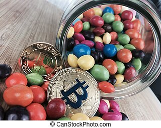 monnaie, peercoin, bitcoin, or