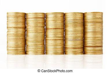 monnaie, pile, or