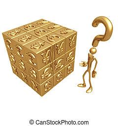 monnaie, puzzle, mondiale