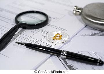 monnaie, résumé, photo., crypto