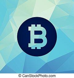 monnaie, résumé, vecteur, bitcoin, fond