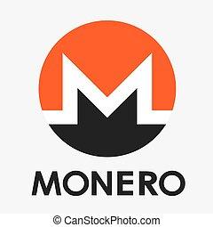 monnaie, vecteur, logo, monero, cripto, xmr
