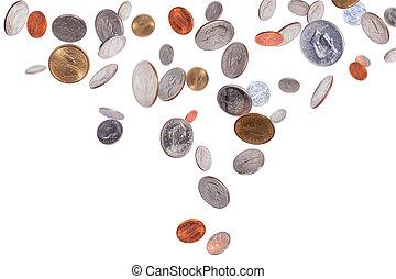 monnaies tombantes, américain