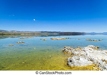 mono, califórnia, lago, lee vining