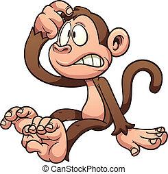 mono, caricatura