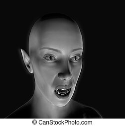 Mono Color Vamp - This is a computer generated image of a...