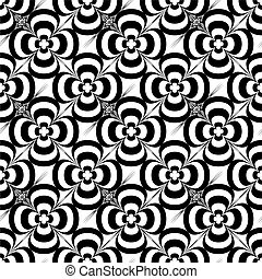mono flower - Floral abstract design that seamlessly repeats...