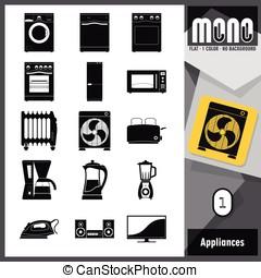 Mono Icons - Appliances 1