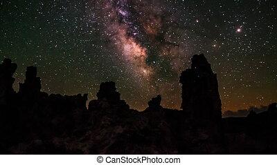 Mono Lake at Night Milky Way California Landscapes - Milky...