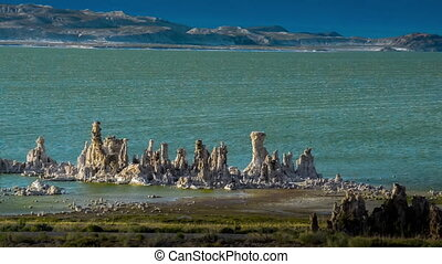 Mono Lake California from the distance - Windy Day Mono Lake...