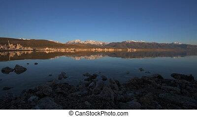 Mono Lake California - Mono Lake Sunrise Tracking Dolly Shot...