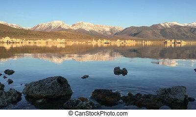 Mono Lake Calm Morning - Mono Lake and Sierra Nevada...