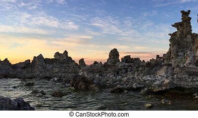 Mono Lake Sunset - Calcium Carbonate limestone Mono Lake...