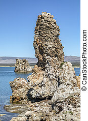Mono Lake Tufa - Geologic formations called tufa towers rise...