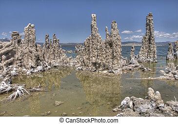 tufas formations in mono lake, california