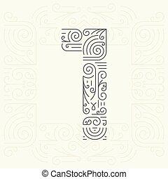 Mono Line style Geometric